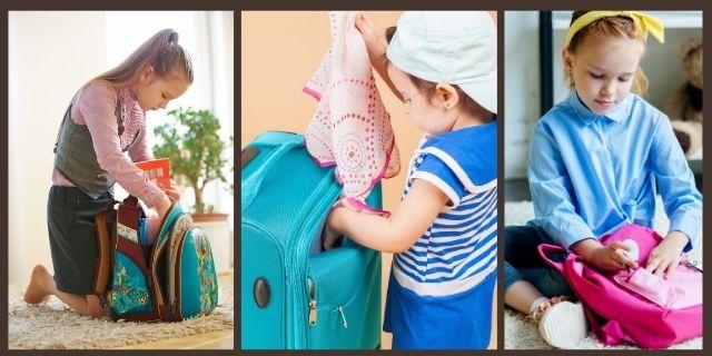 Child Organizing Own Stuff