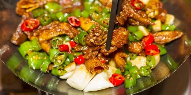 Oily and Spicy Food